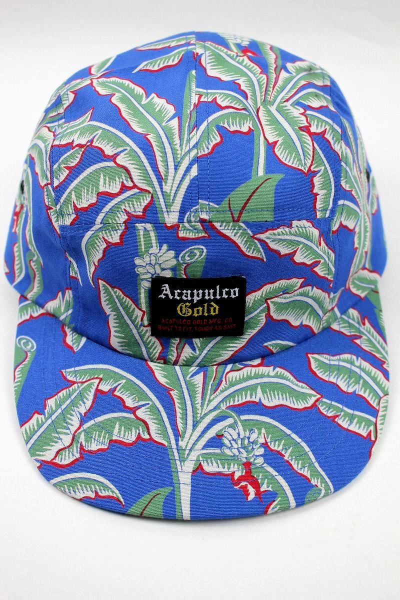 """ACAPULCO GOLD / """"ALOHA"""" 5-PANEL CAMP CAP / blue"""