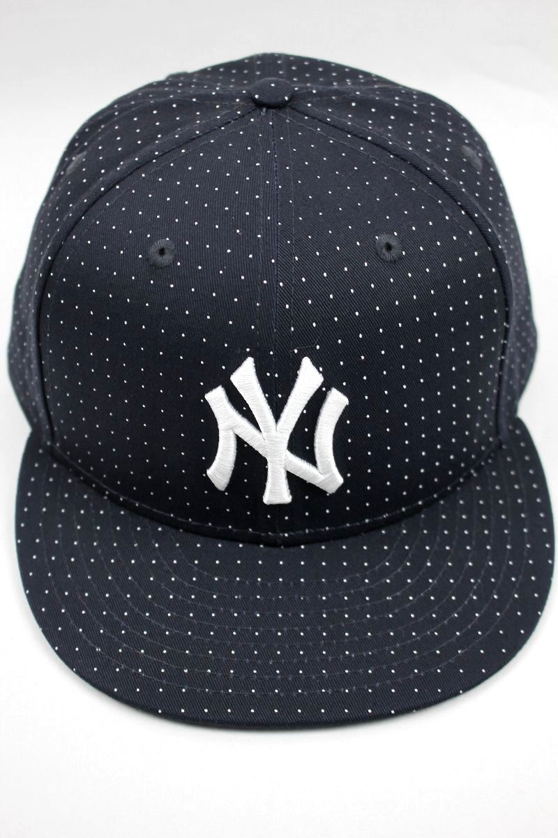 "NEWERA×PACKER / ""NEWYORK YANKEES"" POLKA DOT FITTED CAP / navy×white"