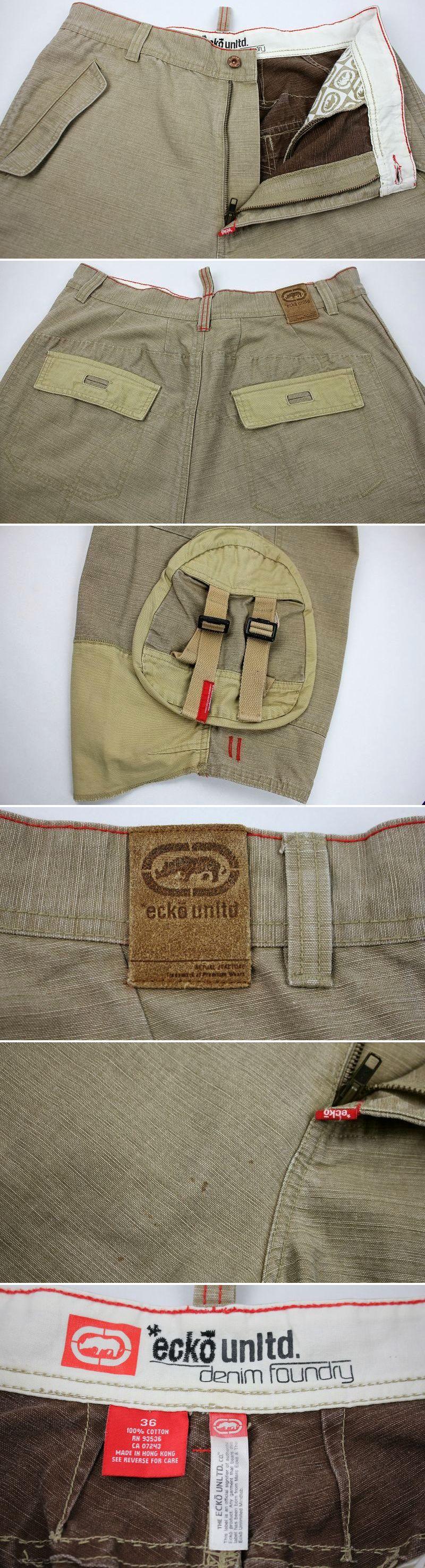USED!!! ECKO UNLTD / SLAB CARGO SHORTS (00'S) / beige