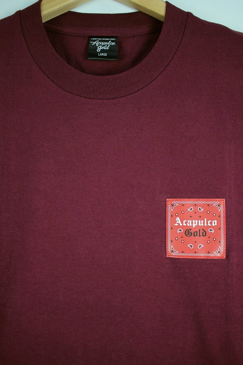 "ACAPULCO GOLD / ""MADE IN USA (Pt.2)"" Tee / burgundy"