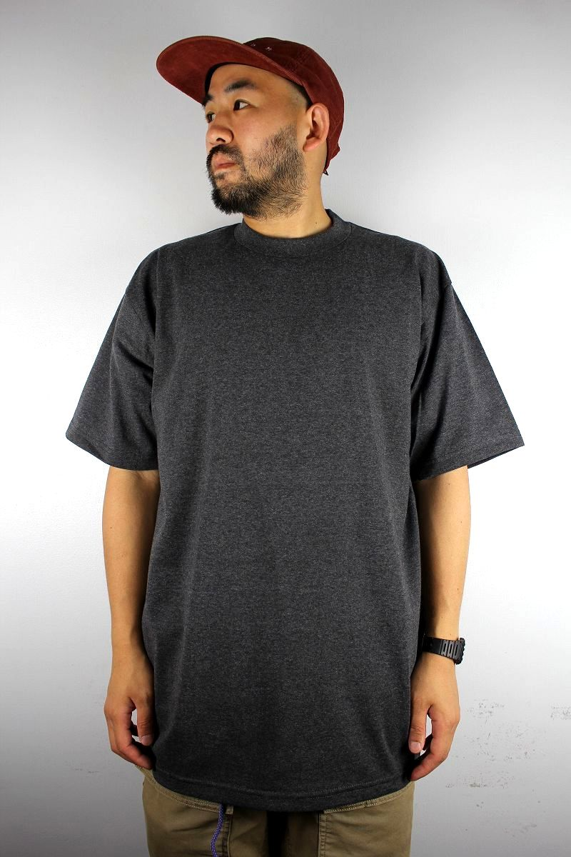PRO CLUB / HEAVY WEIGHT CREWNECK Tee (TALL SIZE) / heather charcoal