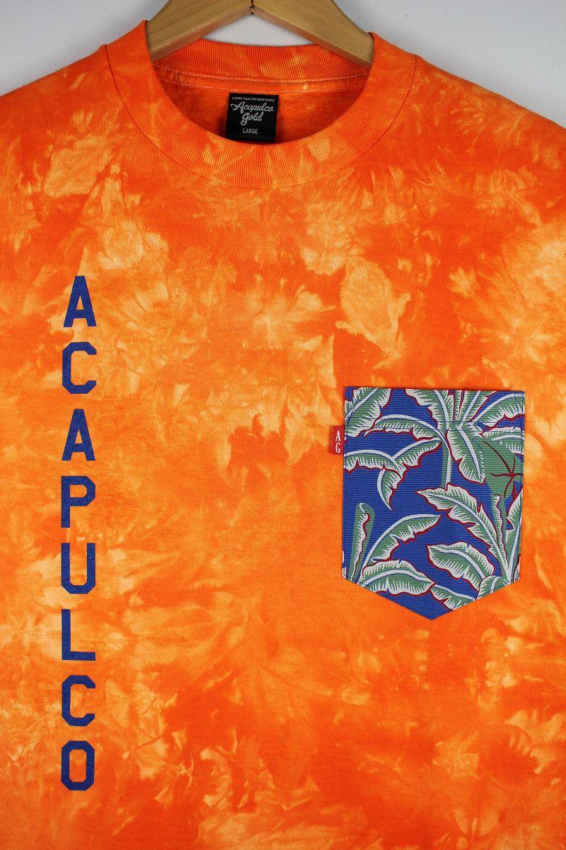 "ACAPULCO GOLD / ""ACAPULCO ARMY"" POCKET TIE-DYE Tee / orange"