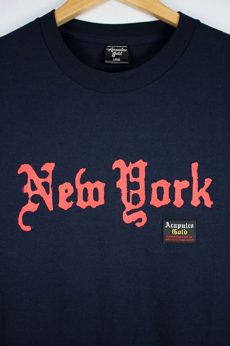 "ACAPULCO GOLD / ""OLD NEW YORK"" Tee / navy"