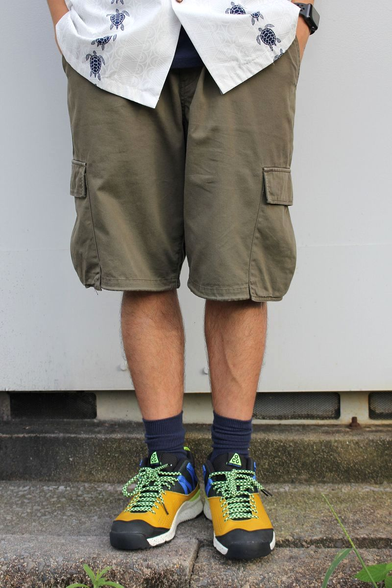 USED!!! GOOD ENOUGH / CARGO SHORTS (90'S) / dark brown