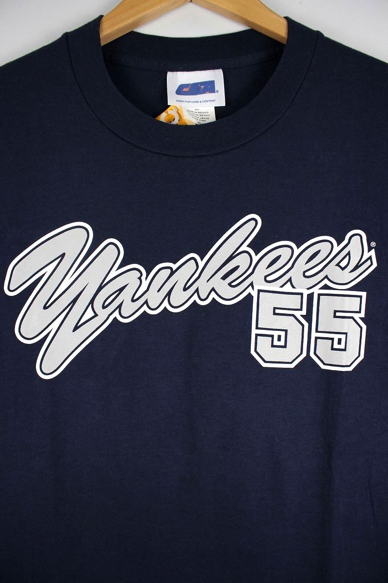 "USED!!! MLB OFFICIAL / ""NEWYORK YANKEES -MATSUI-"" Tee (00'S) / navy"