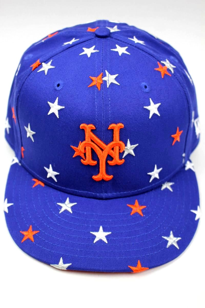 "NEWERA / ""STAR"" SNAPBACK CAP / blue×orange×white"
