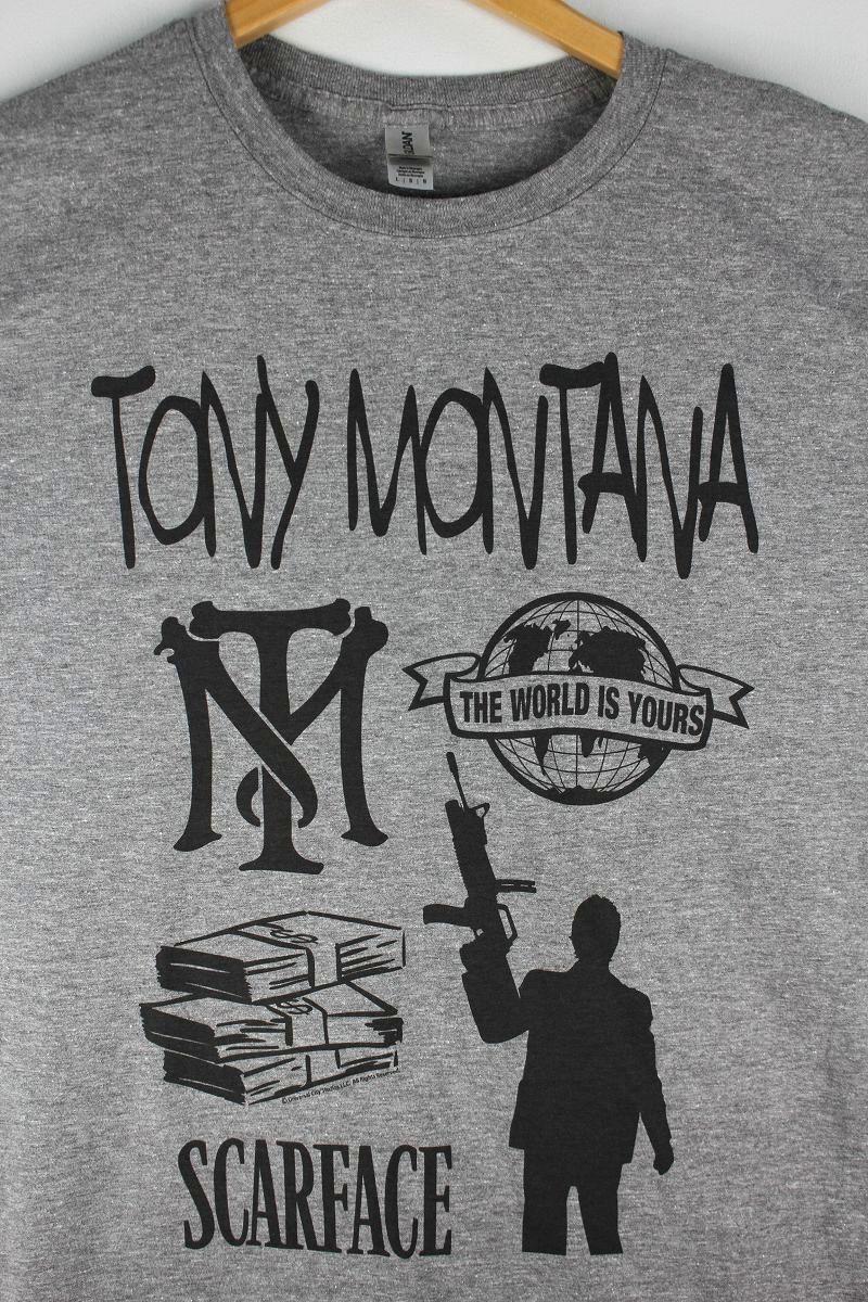 "SCARFACE / ""TONY MONTANA&FRIENDS"" Tee / heather grey"