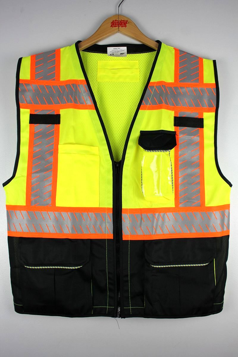 NYC WORK WEAR / REFLECTIVE SAFETY VEST / yellow×black×orange
