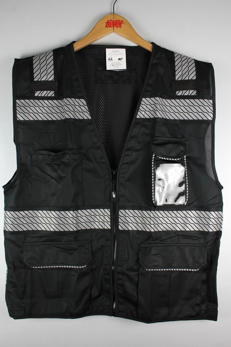 NYC WORK WEAR / REFLECTIVE SAFETY VEST / black