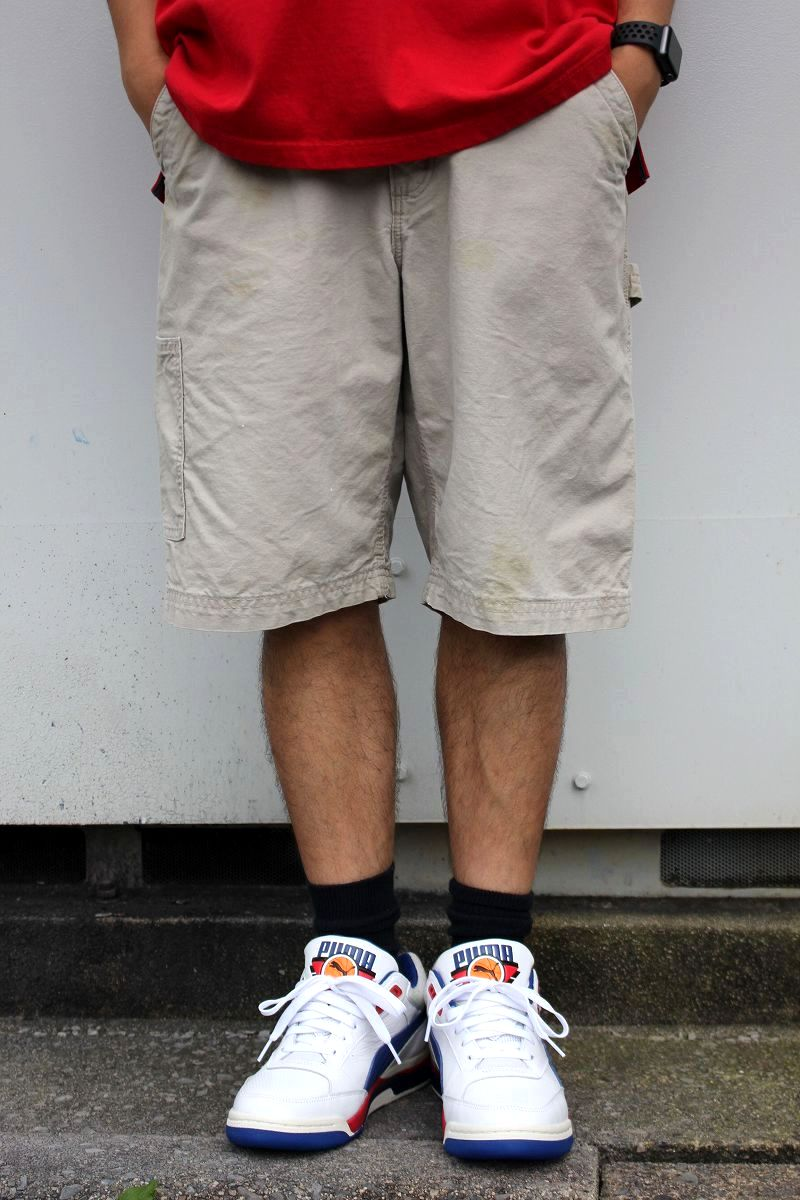 USED!!! CARHARTT / PAINTER SHORTS (00'S) / off white