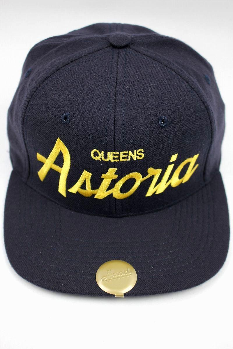 """HOOD HAT / """"Astoria NY"""" SNAPBACK CAP / navy"""