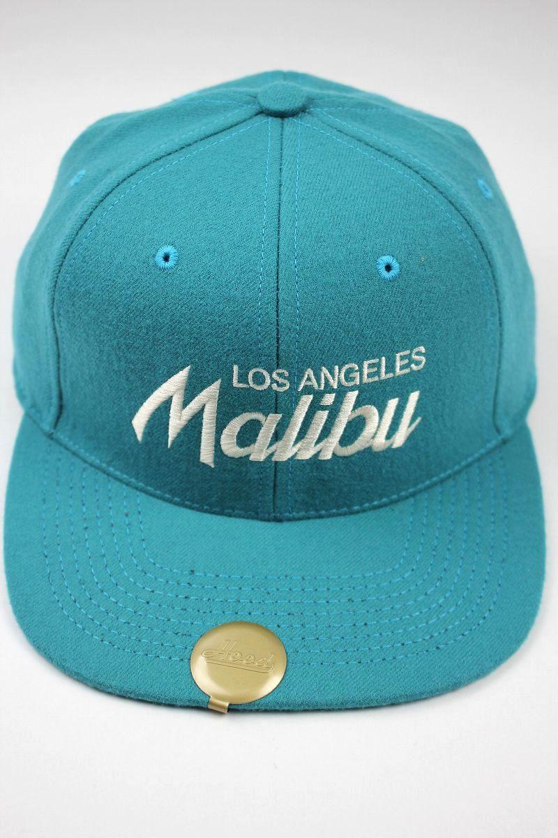 """HOOD HAT / """"Malibu CA"""" SNAPBACK CAP / turquoise"""