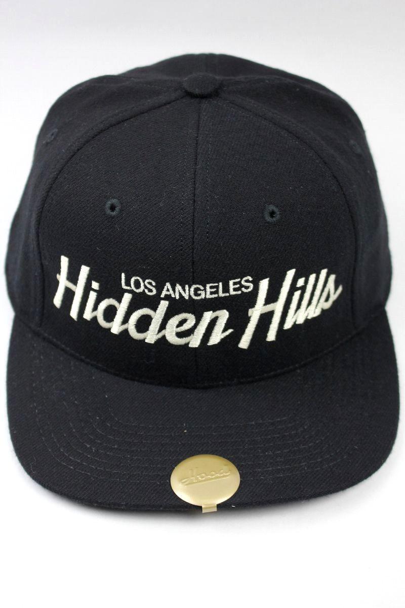 """HOOD HAT / """"Hidden Hills CA"""" SNAPBACK CAP / black"""