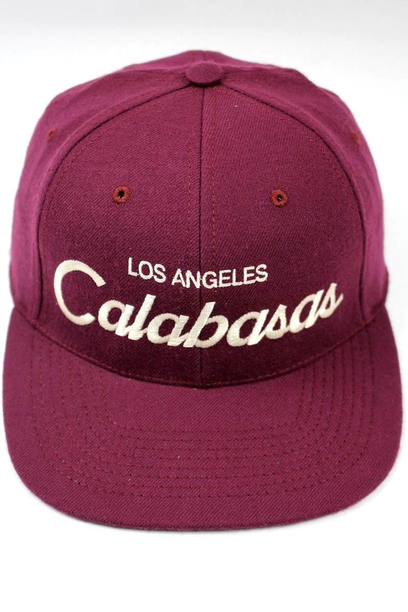 "HOOD HAT / ""Calabasas CA"" SNAPBACK CAP / wine"