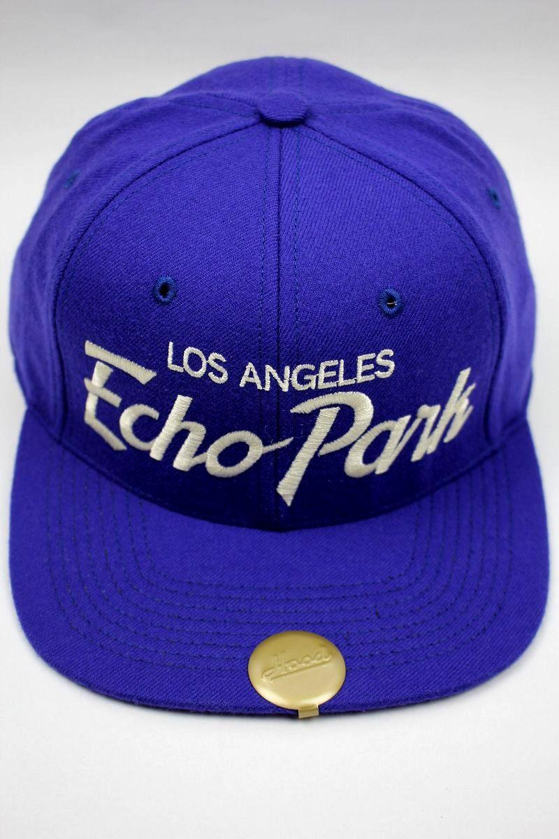 "HOOD HAT / ""Echo Park CA"" SNAPBACK CAP / dark blue"