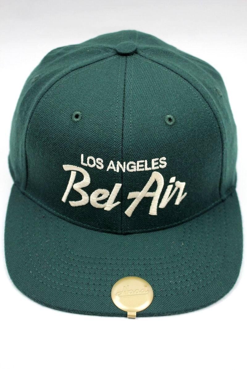 "HOOD HAT / ""Bel Air II CA"" SNAPBACK CAP / dark green"