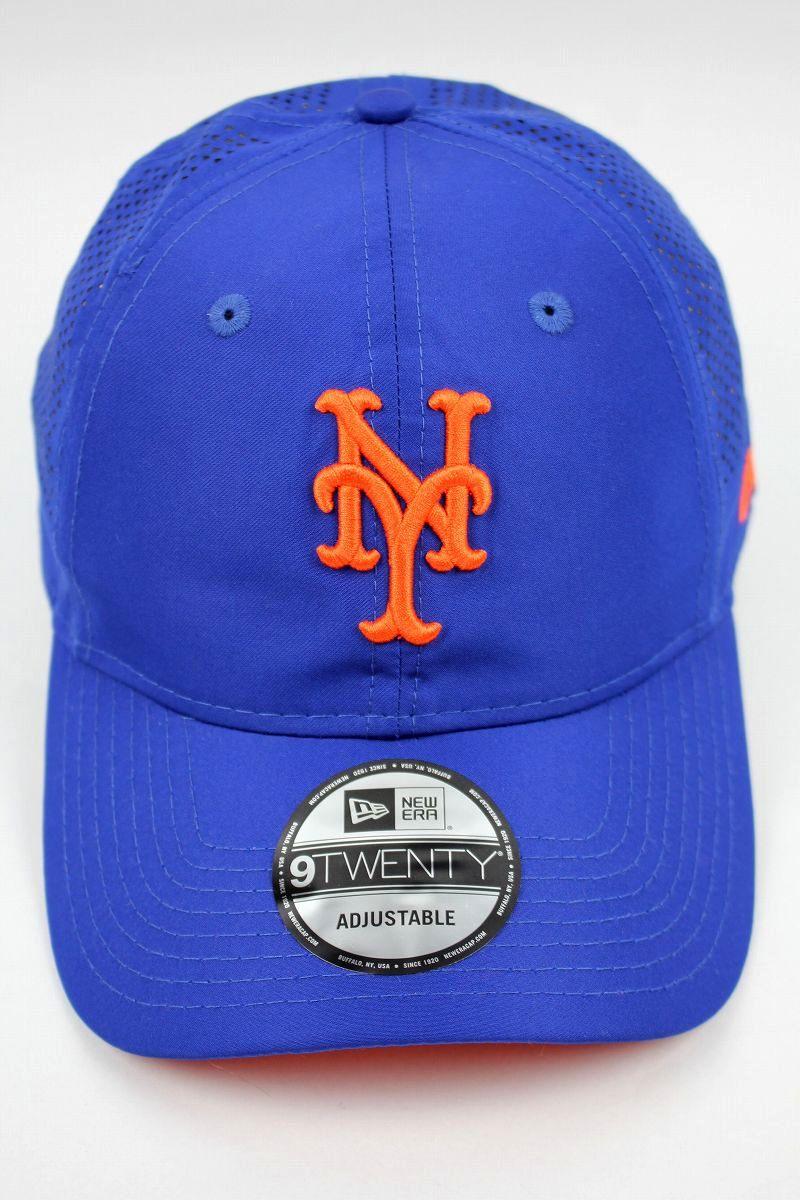 "NEWERA / ""NEWYORK METS"" MESH STRAPBACK CAP / blue×orange"