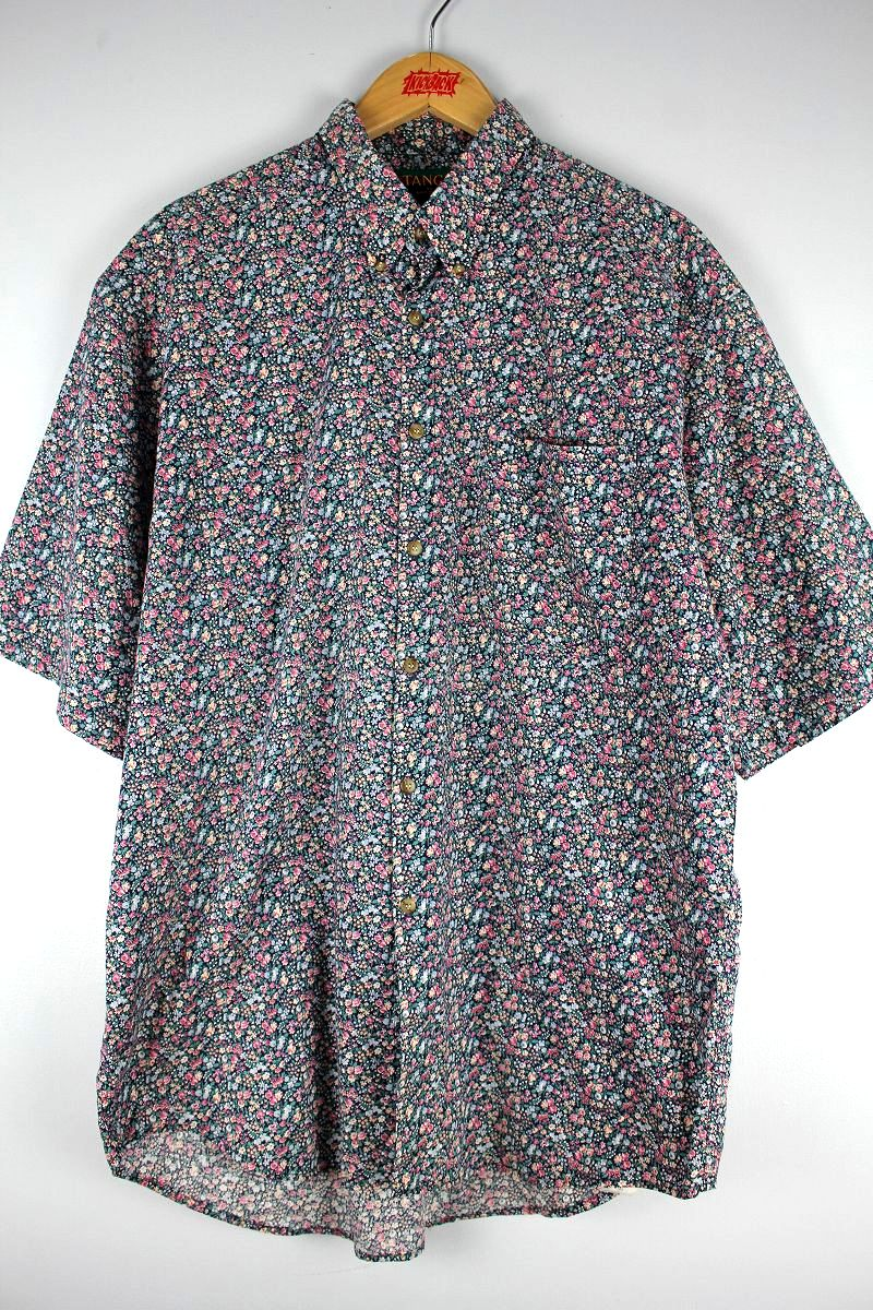 USED!!! TANGO / FLOWER PATTERN BUTTON-DOWN SHIRTS (90'S)