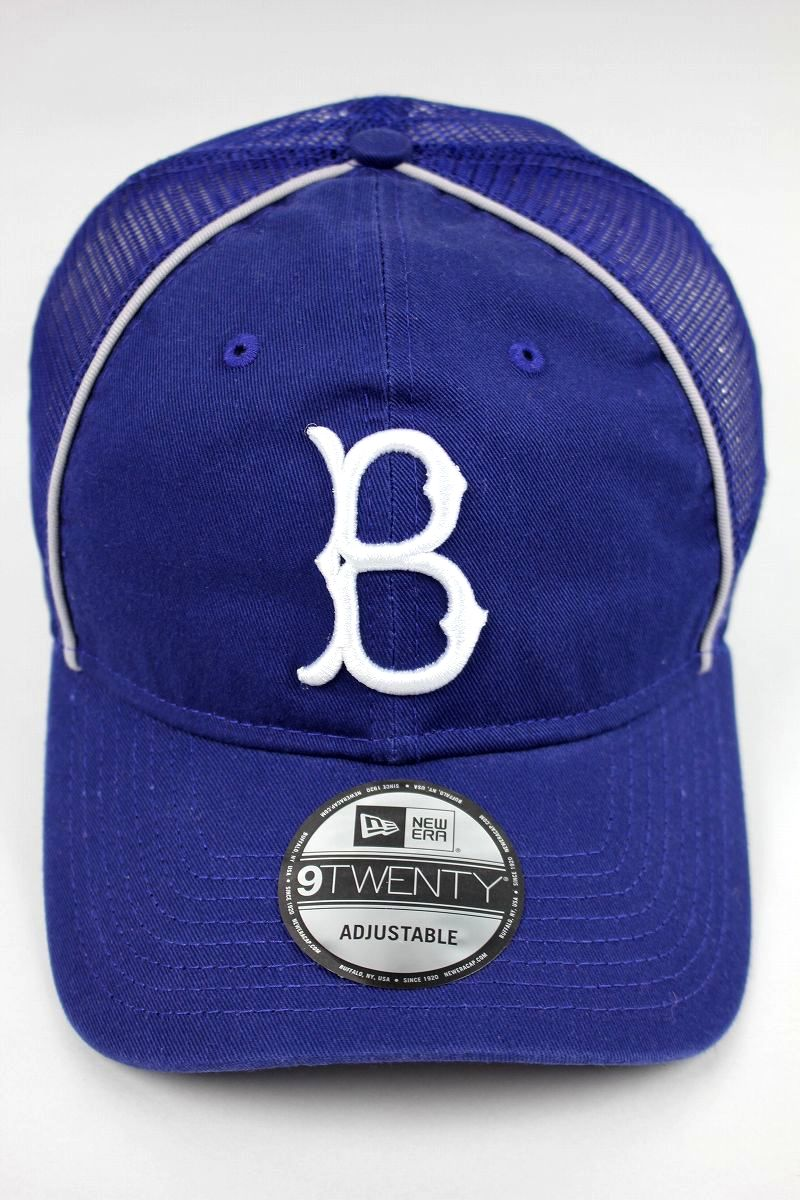 "NEWERA / ""BROOKLYN DODGERS"" MESH SNAPBACK CAP / dark blue×white"