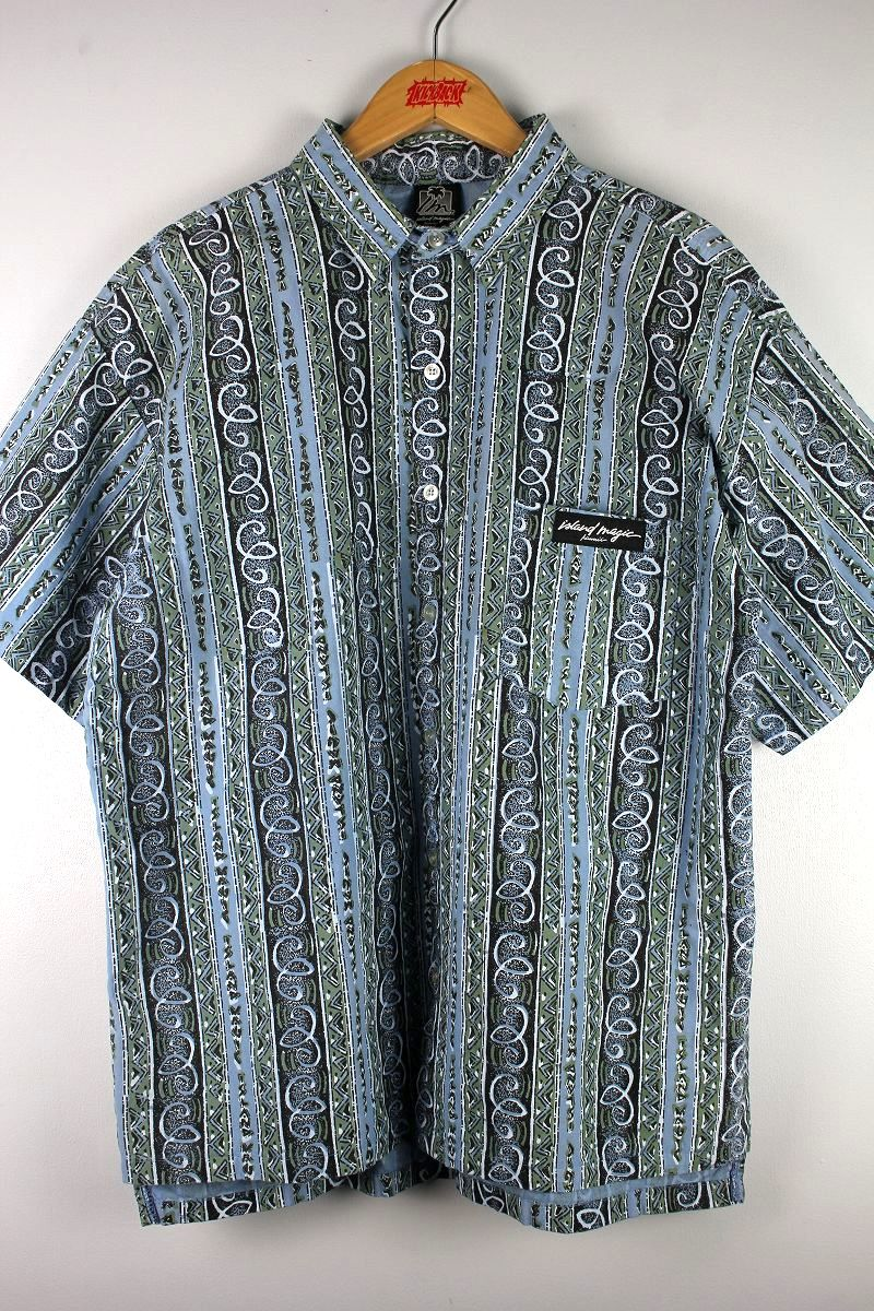 "USED!!! ISLAND MAGIC / ""NATIVE"" SS SHIRTS (90'S)"