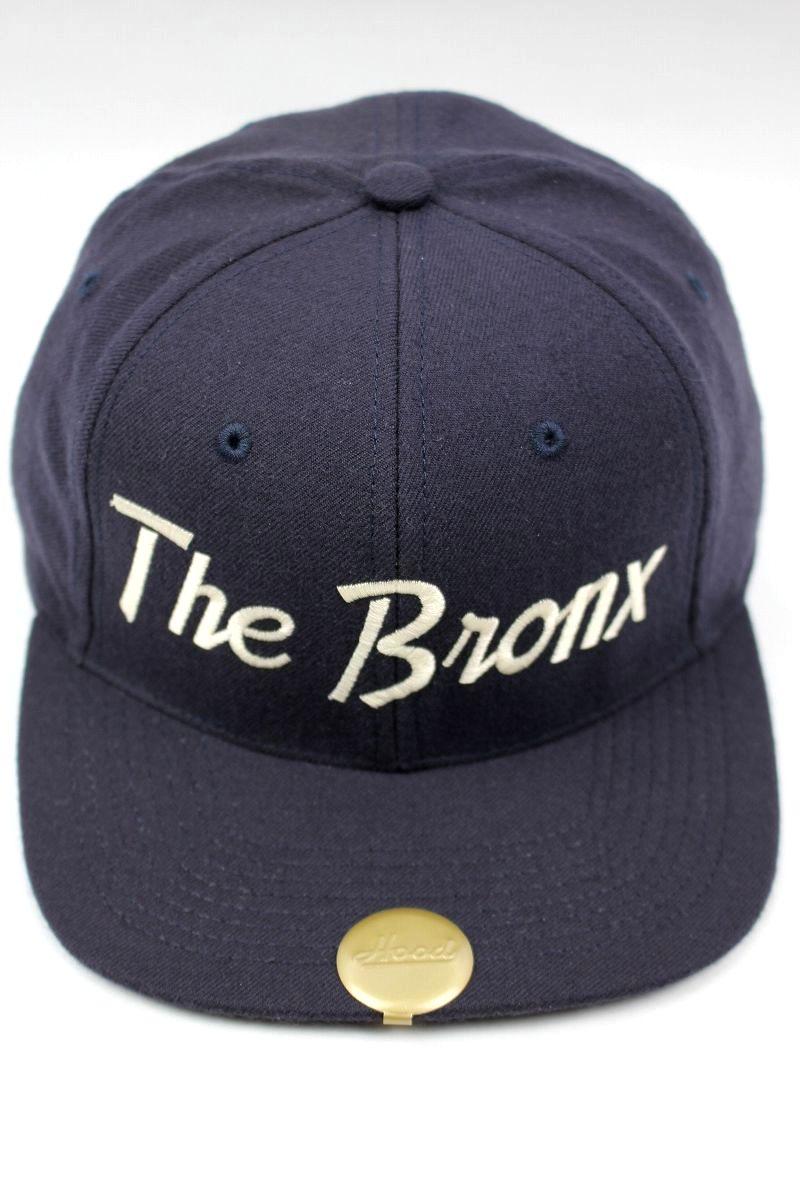 """HOOD HAT / """"The Bronx NY"""" SNAPBACK CAP / navy"""