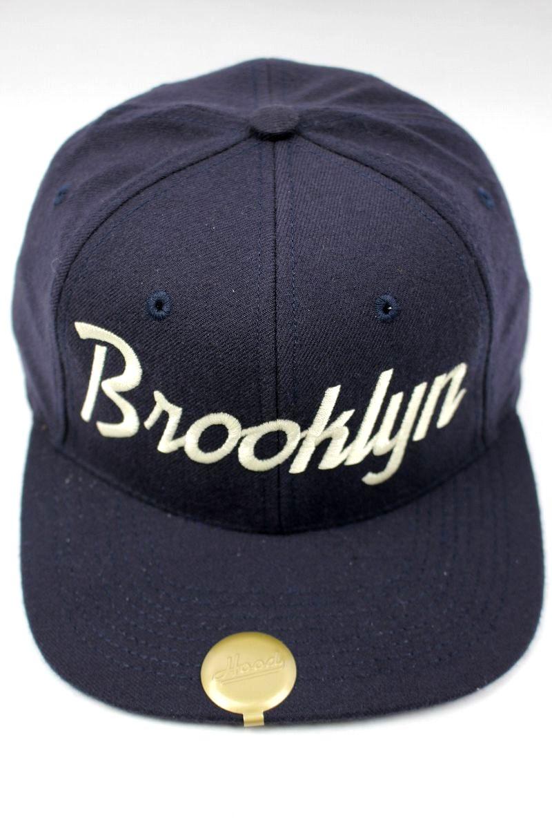 """HOOD HAT / """"Brooklyn NY"""" SNAPBACK CAP / navy"""