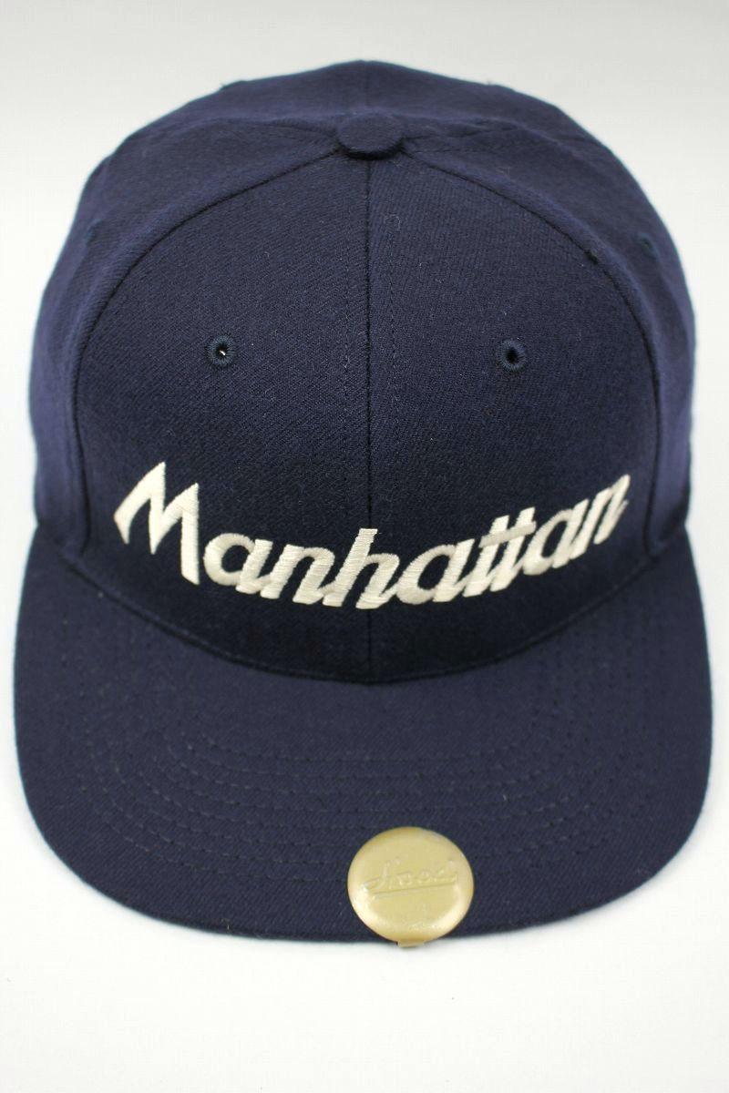 """HOOD HAT / """"Manhattan NY"""" SNAPBACK CAP / navy"""