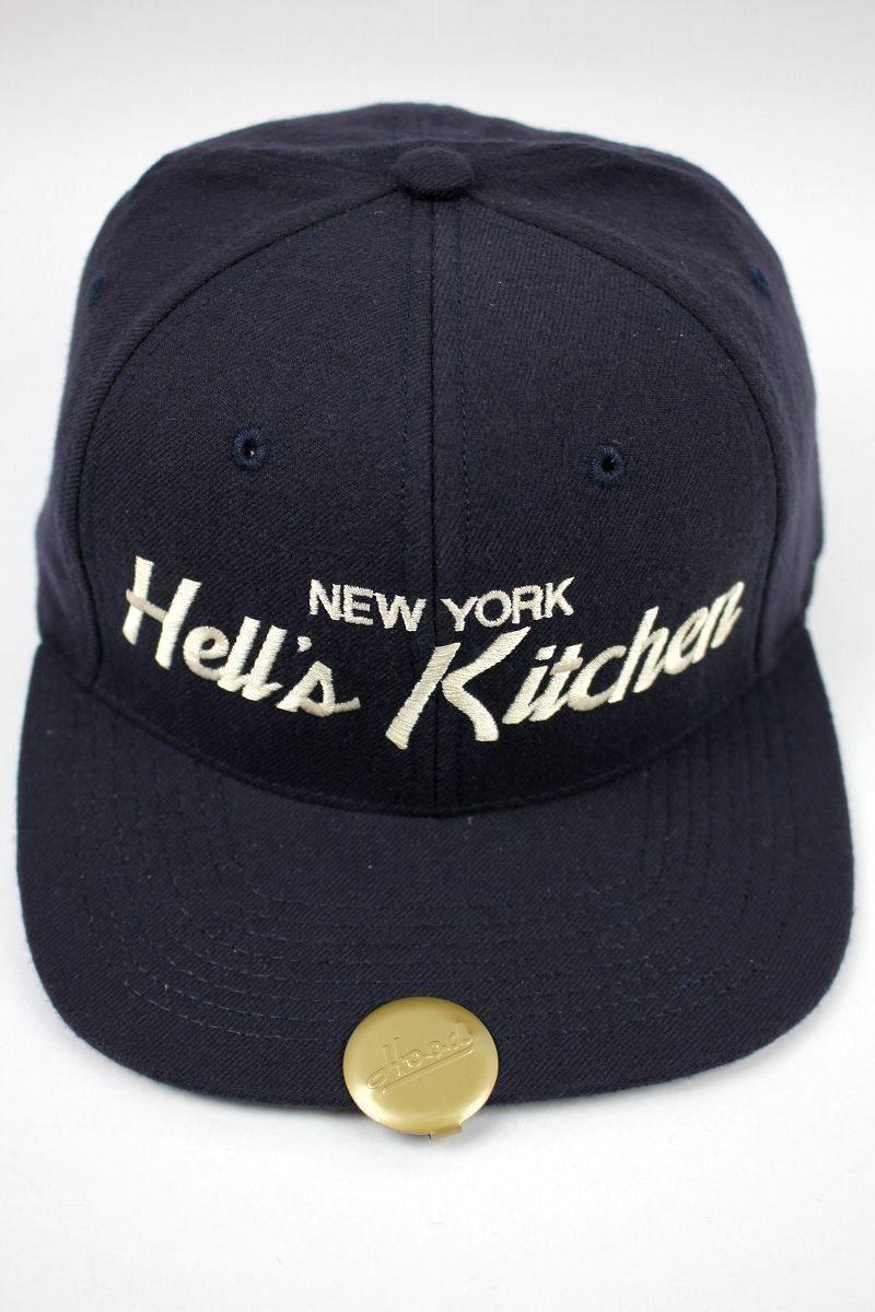 """HOOD HAT / """"Hell's Kitchen NY"""" SNAPBACK CAP / navy"""