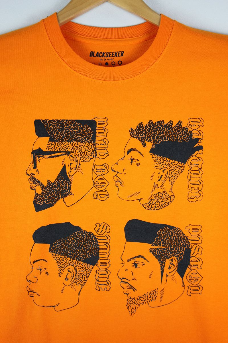 "BLACKSEEKER / ""MAZE HAIR"" Tee / orange"