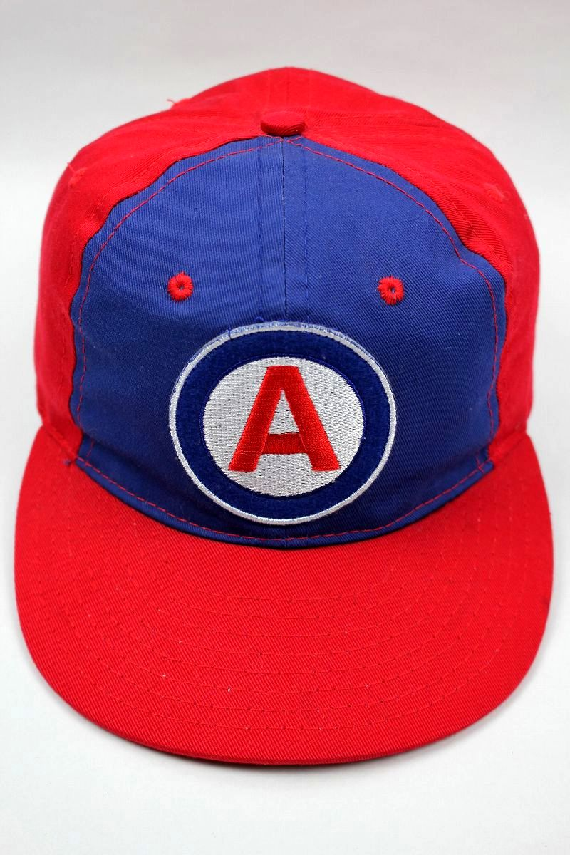 USED!!! EBBETS FIELD × AWAKE / STRAPBACK CAP / blue×red