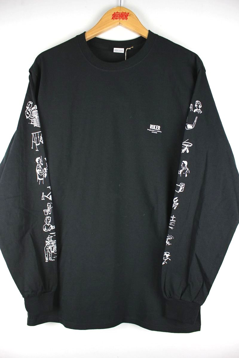 "RULER / ""12OZ."" LS Tee / black"