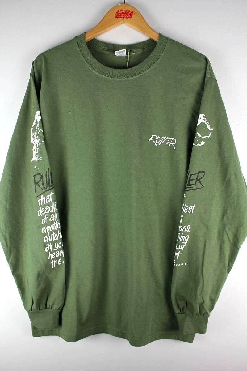 "RULER / ""NOTLD"" LS Tee / army green"
