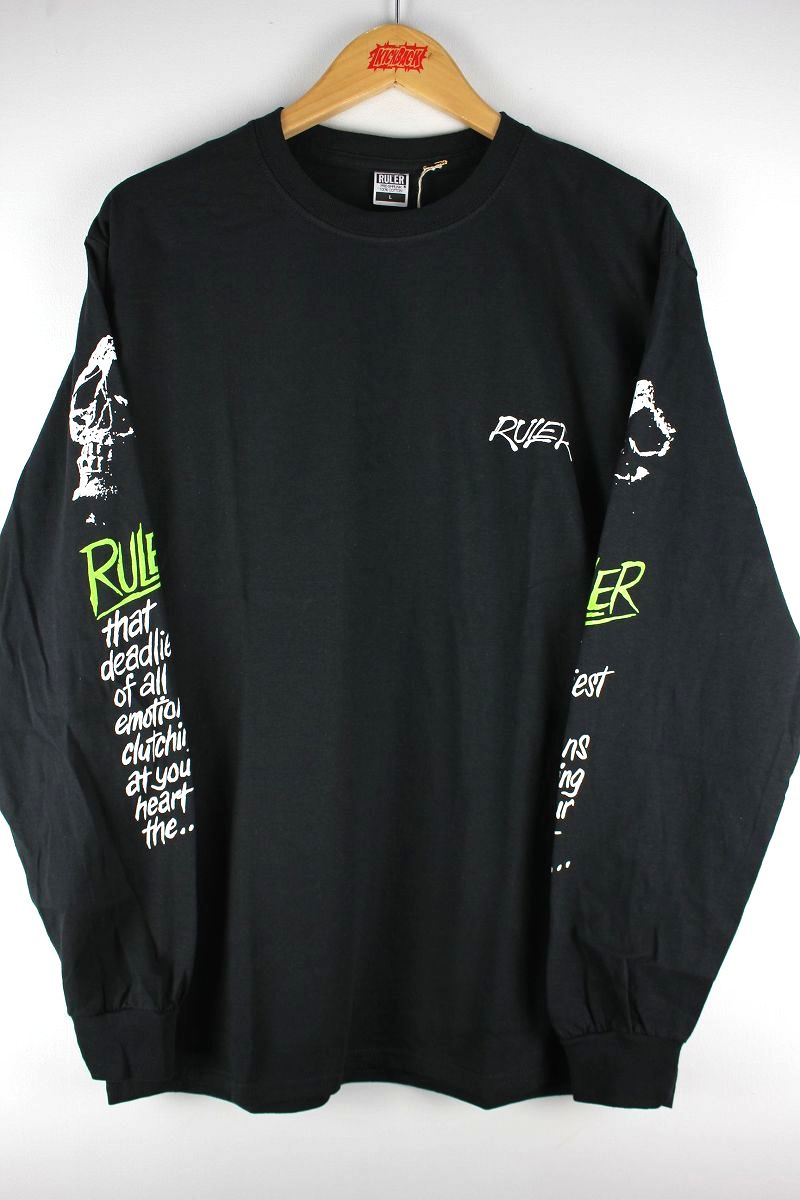 "RULER / ""NOTLD"" LS Tee / black"