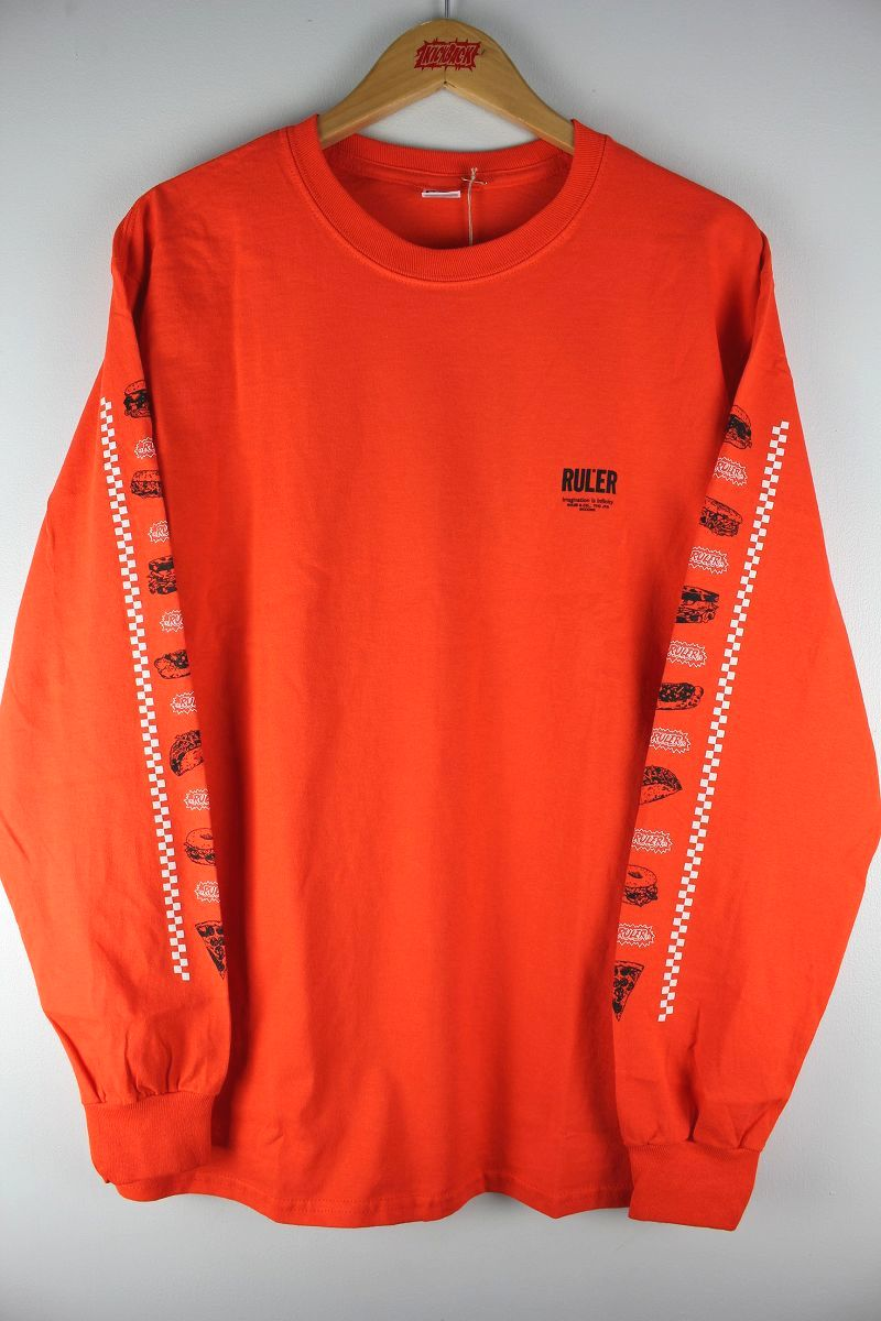 "RULER / ""MUNCHEESE"" LS Tee / orange"