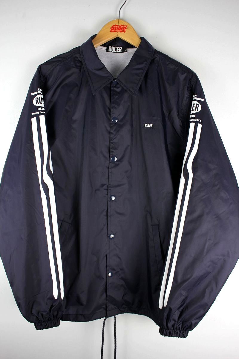 "RULER / ""MARKER LINE"" COACH JACKET / navy"