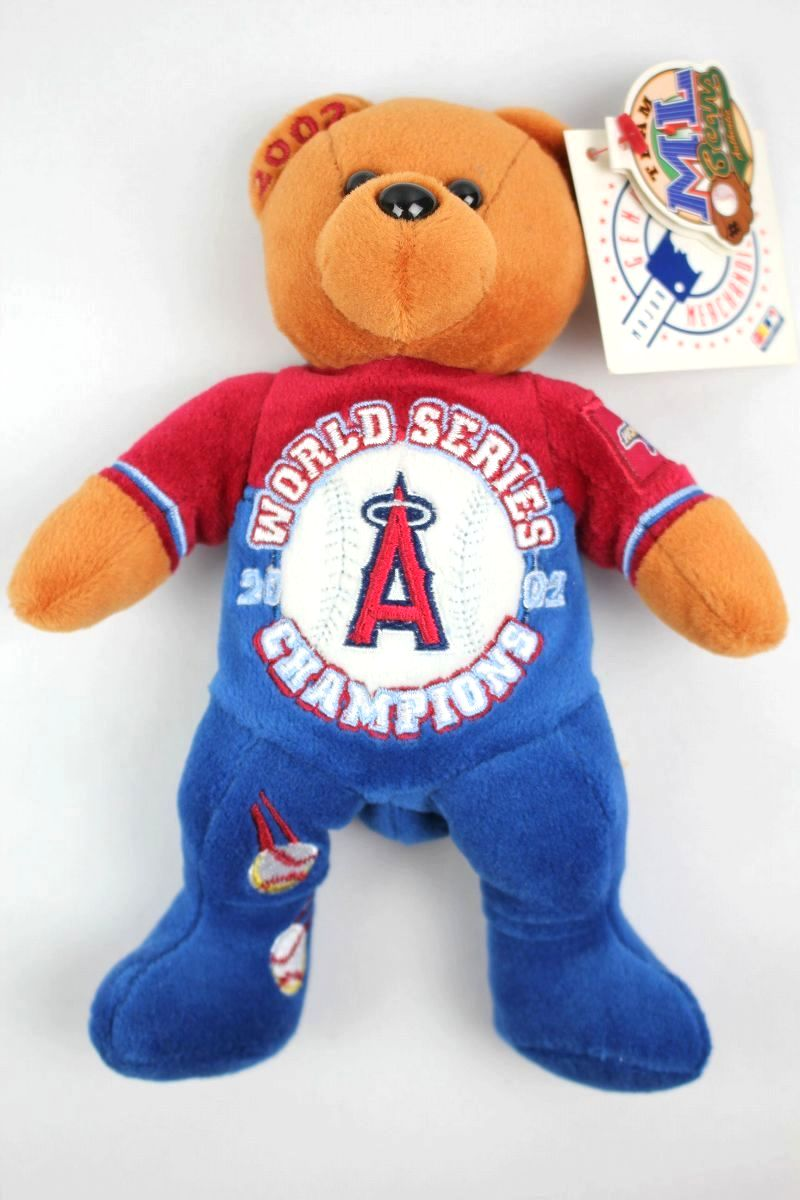 "DEADSTOCK!!! MLB OFFICIAL / ""ANAHEIM ANGELS -2002 WORLD CHAMPION-"" TEDDY BEAR (2002年製)"