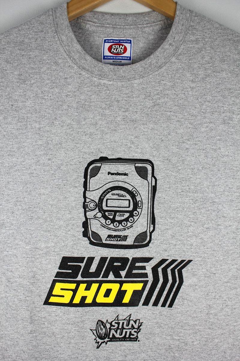 "STUNNUTS / ""SURE SHOT -SHOCKWAVE-"" Tee / heather grey"