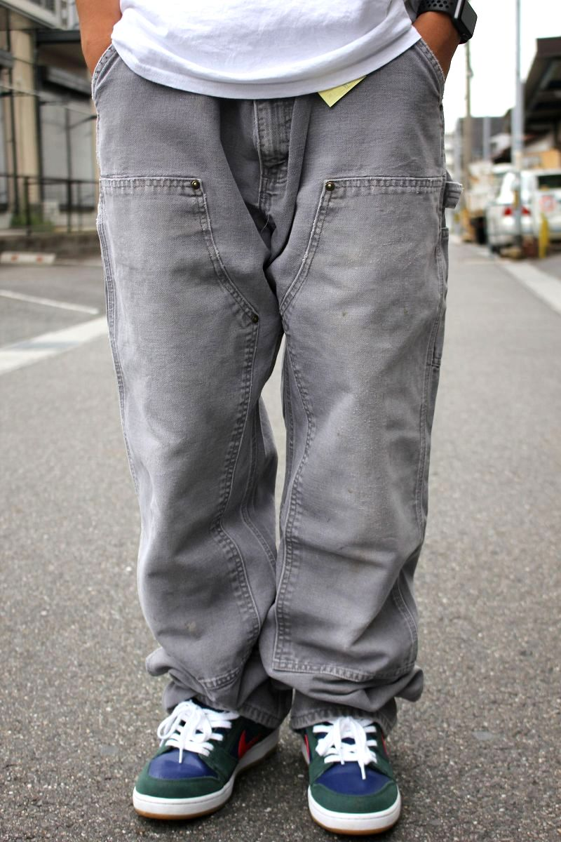 USED!!! CARHARTT / W KNEE PAINTER PANTS (00'S) / washed charcoal