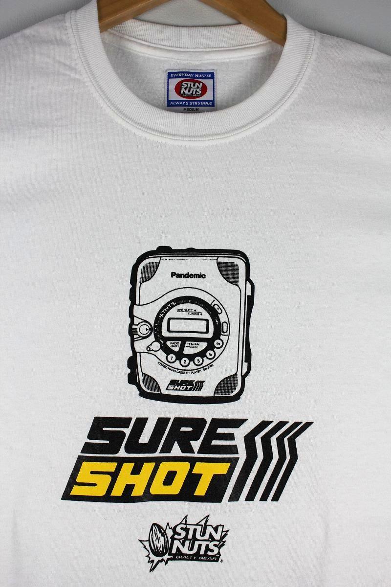 "STUNNUTS / ""SURE SHOT -SHOCKWAVE-"" Tee / white"