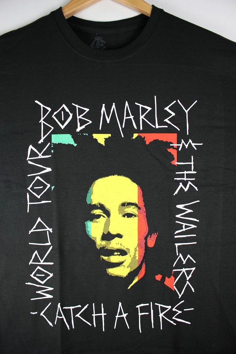 "BOB MARLEY / ""CATCH A FIRE"" Tee / black"