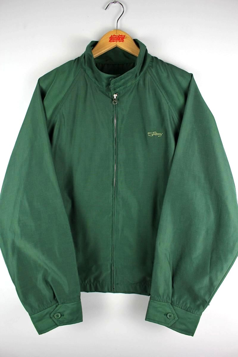 USED!!! STUSSY / SWING-TOP JACKET (90'S) / green