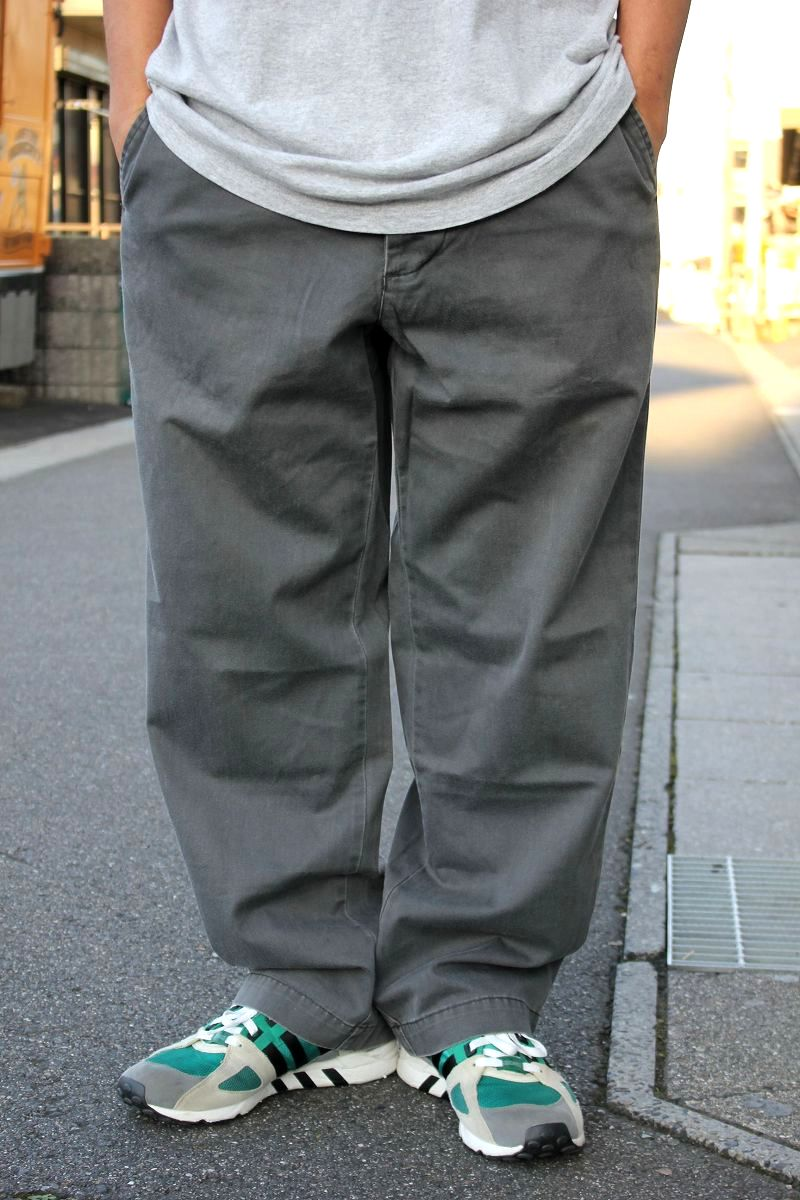 USED!!! STUSSY / CHINO WORK PANTS (90'S) / charcoal