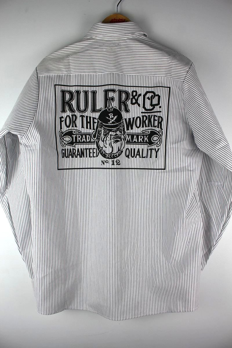 "RULER / ""FTW"" REDKAP STRIPE WORK SHIRTS"