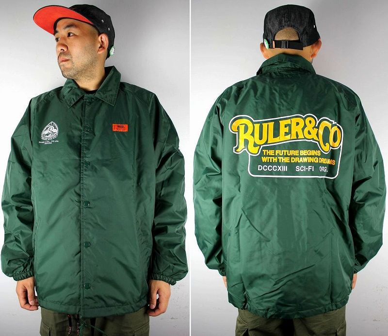 "RULER / ""SCI-FI"" RAGLAN COACH JACKET / dark green"