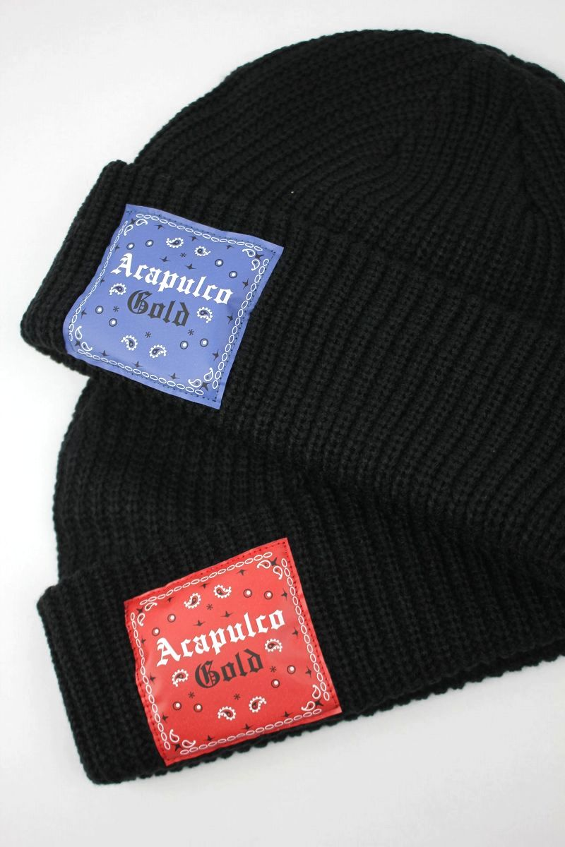 "ACAPULCO GOLD / ""USAG"" CABLE KNIT CUFF BEANIE"