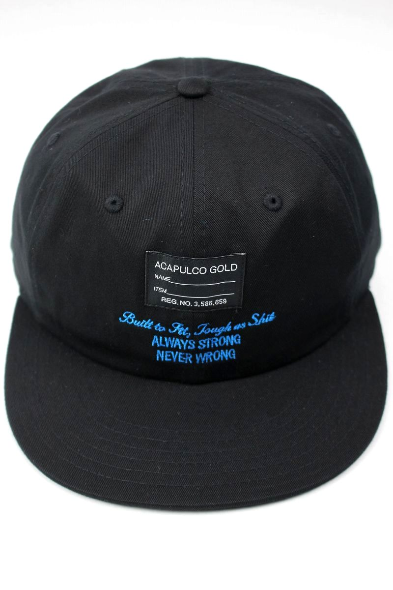 "ACAPULCO GOLD / ""ENGINEER"" STRAPBACK CAP / black"