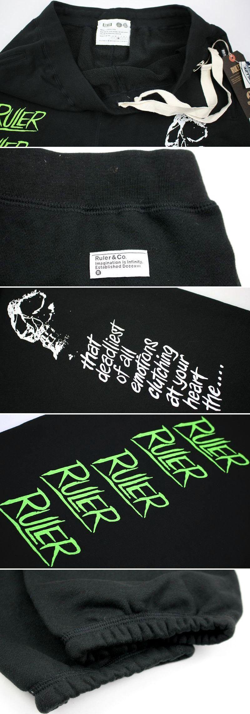 "RULER / ""N.O.T.L.D."" SWEAT PANTS / black"