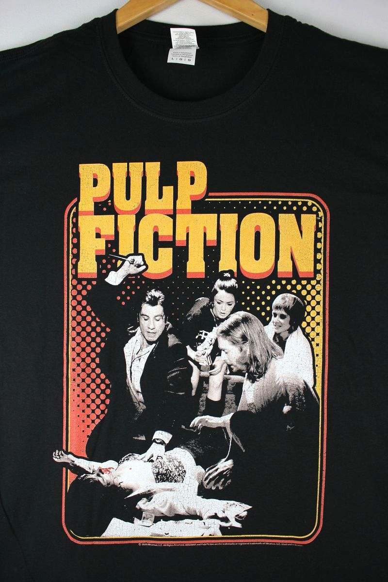 "PULP FICTION / ""SHOT"" Tee / black"