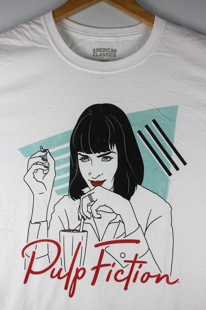 "PULP FICTION / ""POP ARTY"" Tee / white"
