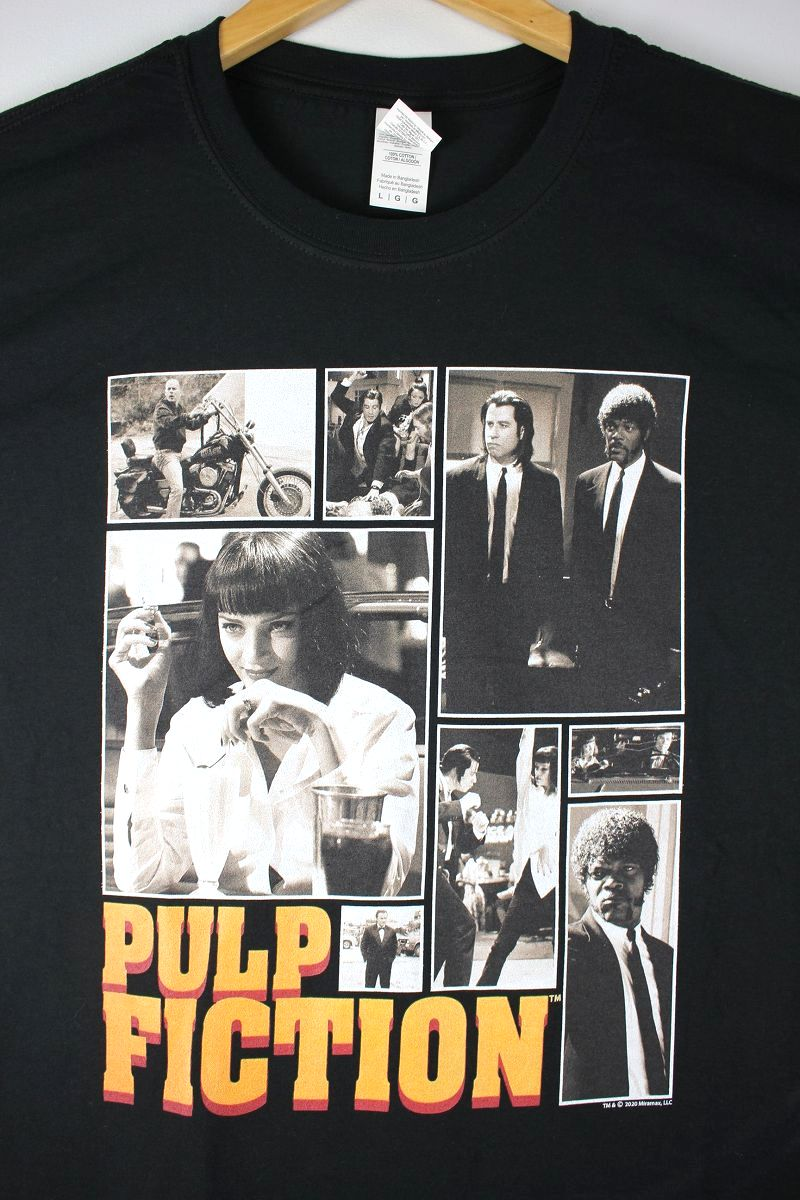 "PULP FICTION / ""COLLAGE"" Tee / black"